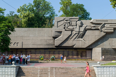 WW2 memorial.  Instead of listing names like US memorials, the Soviet memorials list entire regiments