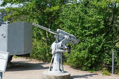 Old ship mounted gun