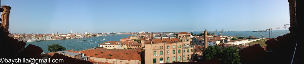 Panorama of Venice from the Hotel Stucky