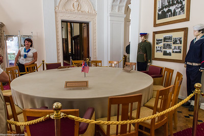 The table.  Interesting that the Russian mannequin is at full attention while the sailor is slouching