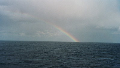 A rainbow over the open sea