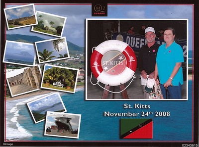 Arriving at our first Port - St. Kitts.