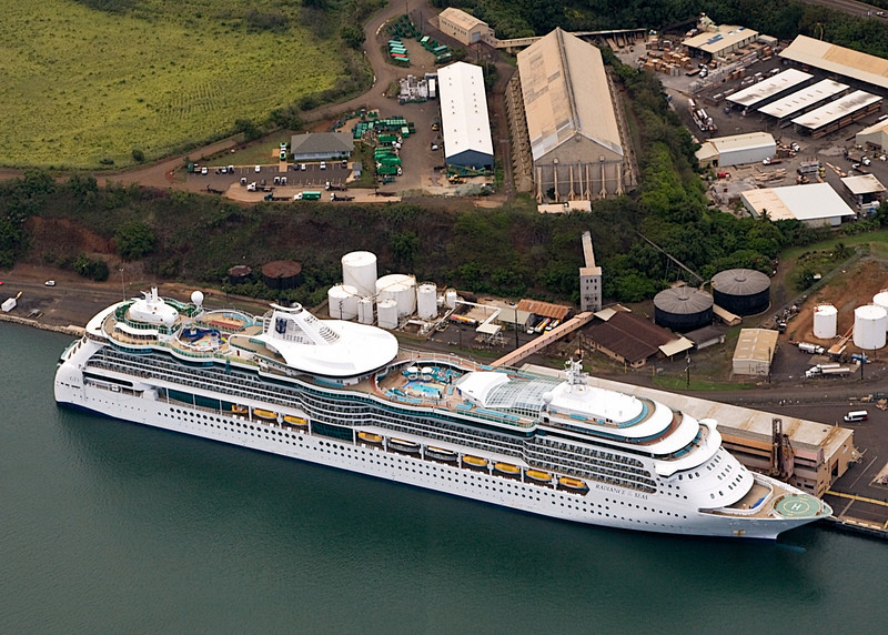 Radiance of the Seas docked at Nawiliwili, Kauai