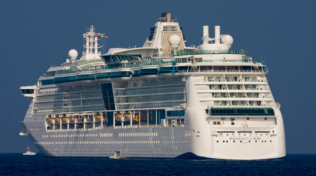 Radiance of the Seas anchored off Kona