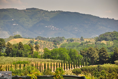 View of the Tuscan countryside.