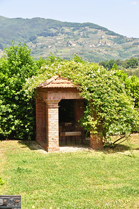 Covered grill area in Tuscany.