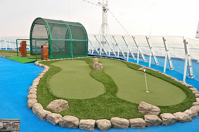Would've rather had a mini golf course than the putting/driving areas.