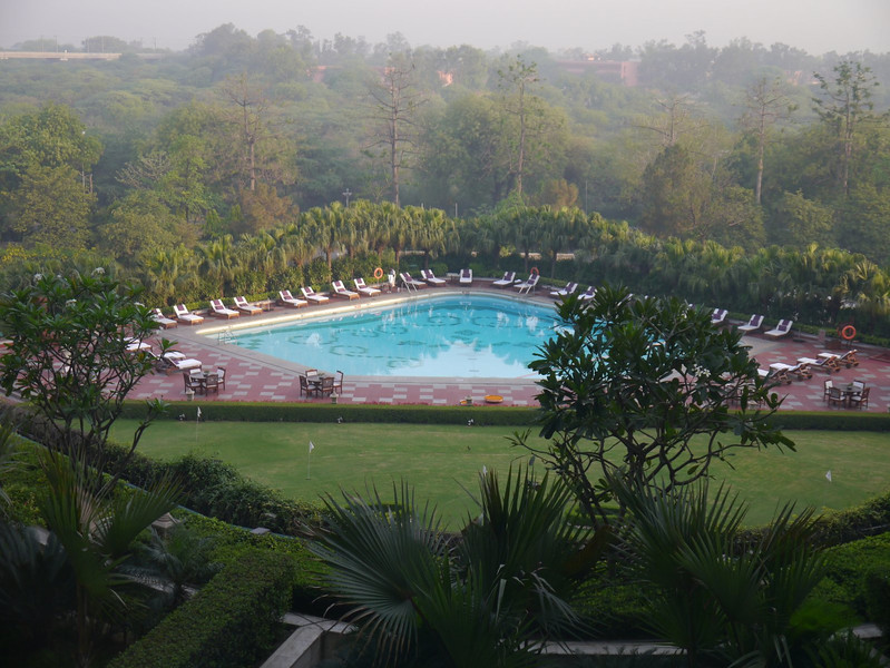 View from our room at the Taj Palace