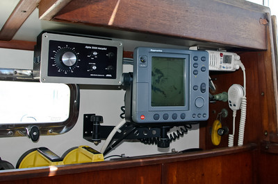 Autopilot control, Radar and VHF radio.