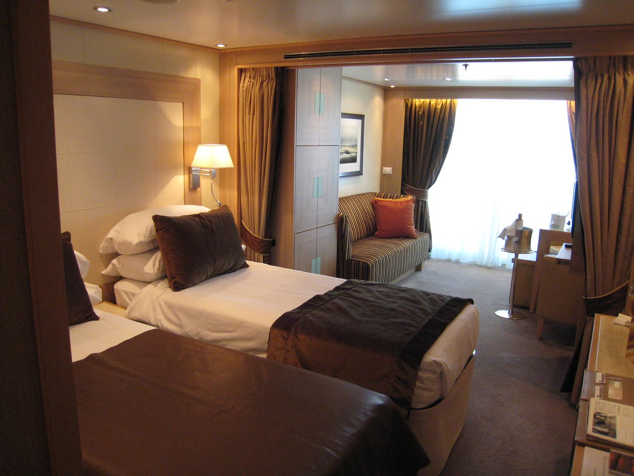 We have arrived!  A shot of the our room (609) on Seabourn Odyssey.
