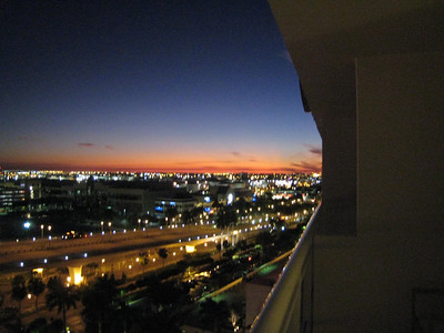 Sunset from the hotel balcony