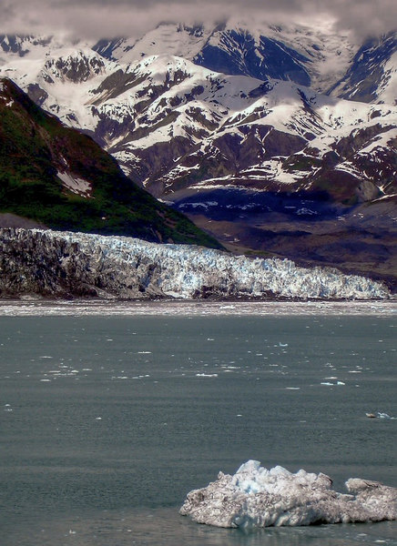 Turner Glacier and Bergy Bit in Disenchantment Bay