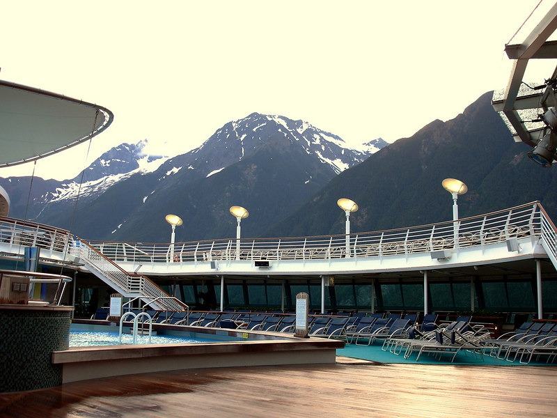 Pool Deck on the Serenade of the Seas in the Lynn Canal