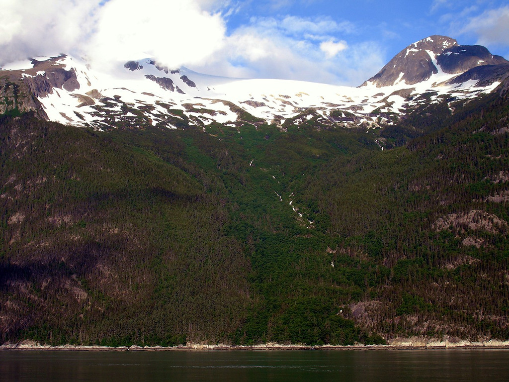 Colorful Mountainside from Serenade of the Seas while Docked in Skagway