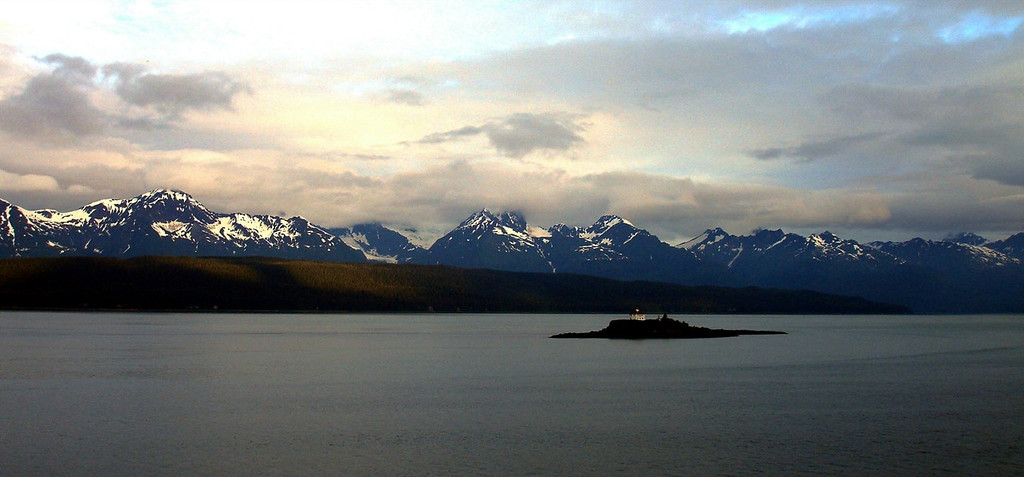 Eldred Rock Lighthouse at Dawn in the Lynn Canal