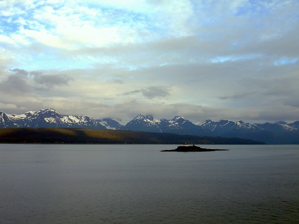Eldred Rock Lighthouse in the Lynn Canal at Dawn