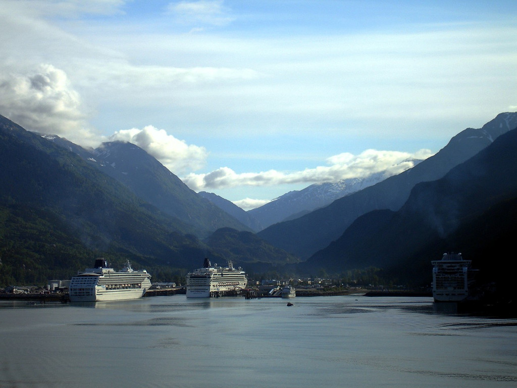 Cruise Ships at Dock in Skagway