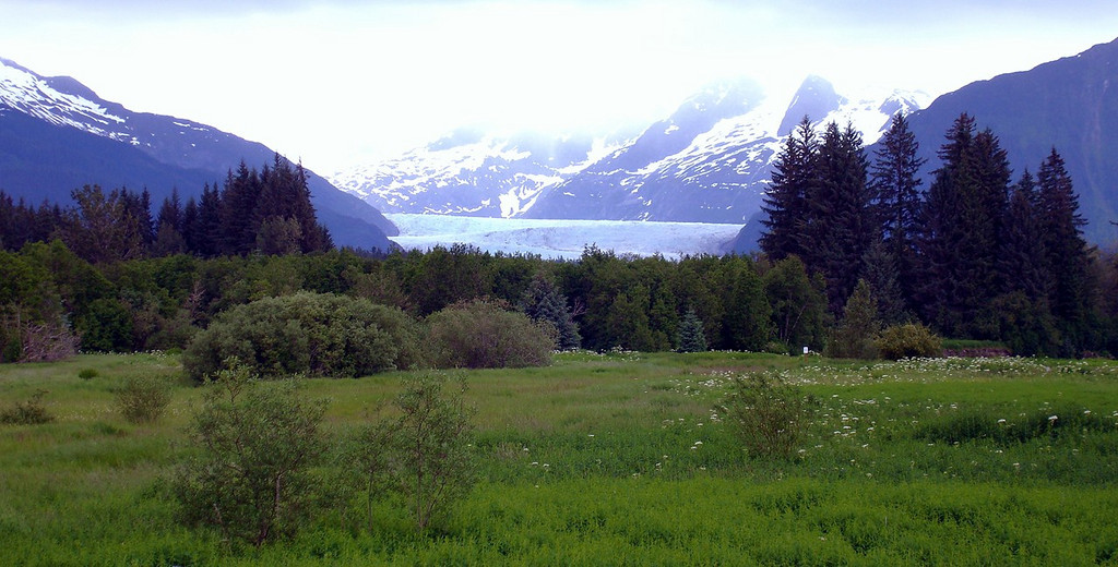 Mendenhall glacier from Overlook in Juneau