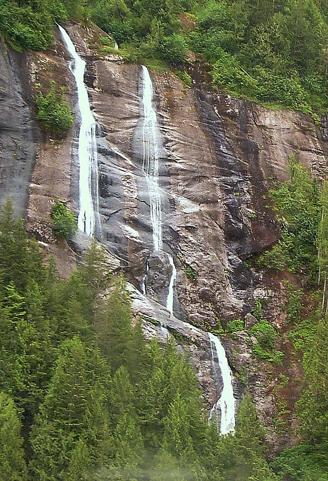 Closeup of Waterfall in Misty Fjords