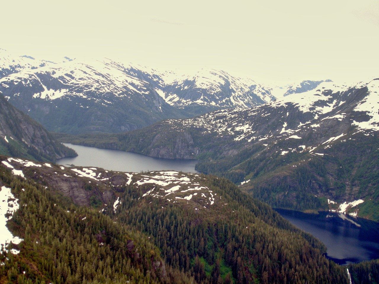Glacier Lake in Misty Fjords