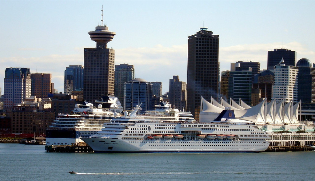 Cruise Ships at Dock in Vancouver