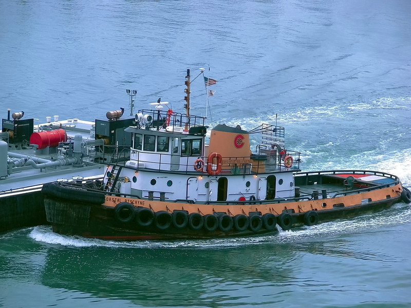 Tugboat in Miami Channel