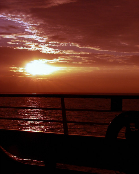 Sunset in the Florida Strait