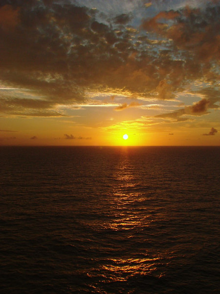 Sunset in the Grand Bahamas Bank off Cuba