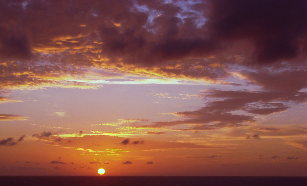 Sunset in the Grand Bahamas Bank off Cuba 6
