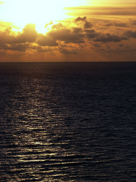 Sunrise in the Grand Bahamas Bank off Cuba