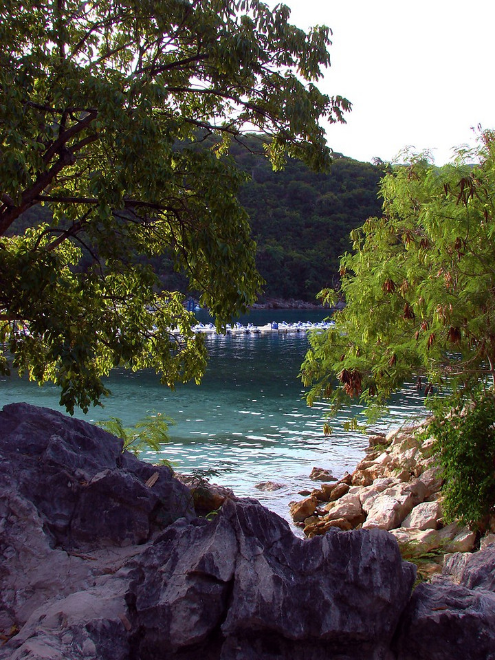 A quiet and peaceful spot on Labadee, Haiti