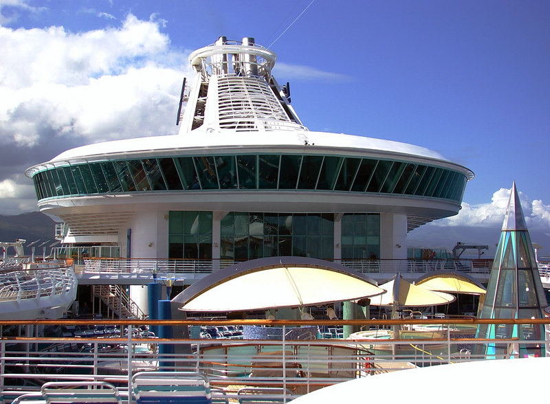 Viking Crown Lounge on <i>Voyager of the Seas</i> in Labadee, Haiti