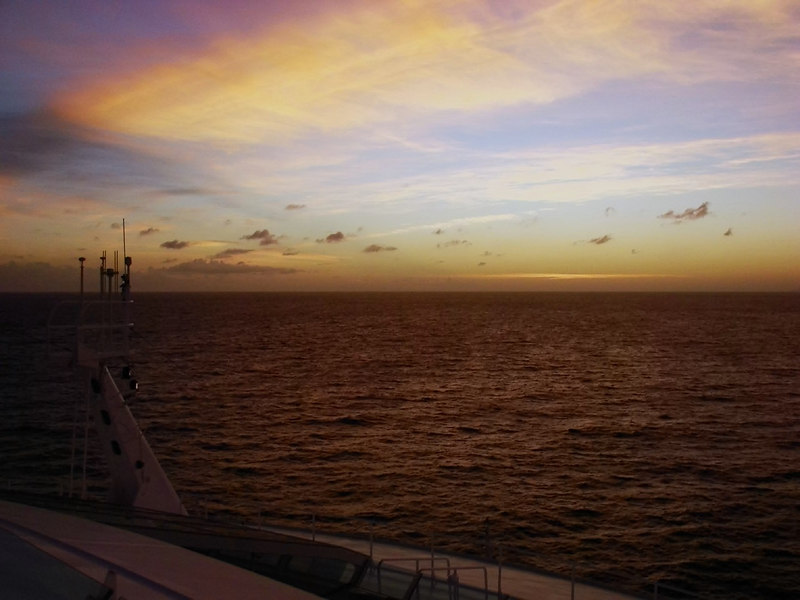 Dawn Twilight from the Forward Observation Deck off the Coast of Hispanola
