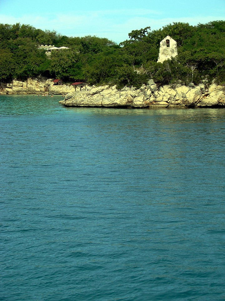 Bell Tower of the ruined Mission at Labadee, Haiti