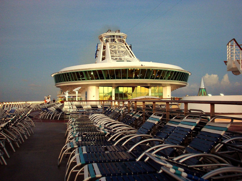 Viking Crown Lounge at Dawn, with Deck Chairs