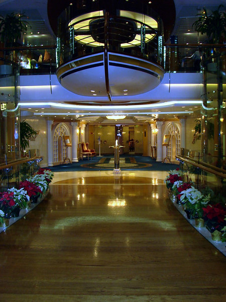 The Magic Flute Dining Room Entrance on the <i>Voyager of the Seas</i>