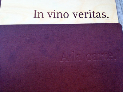 A nice simple title for a wine list
