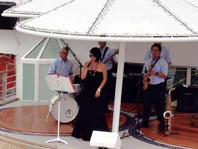 This was Seabreeze during the Amsterdam sailaway, they didn't appear to perform as often as the Romantics, but seemed to work more than destination services.