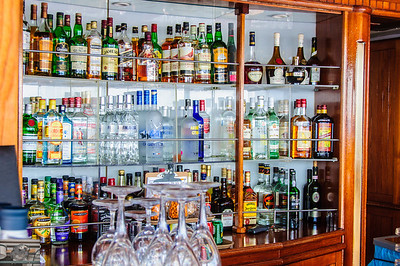 Most of the liquor selection in the Sky bar (I had my cabin liquor stashed here.  I'd much rather Nelson, Ivan or Sonja mix a drink than have to order the ingredients and mix it myself in my suite).