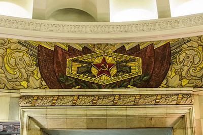 Ghosts from Pac Man, PPShs and the end of the Great Patriotic war.  I wonder how long it would take something similar to be defaced on a US subway