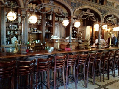 The bar of the Pushkin cafe, it's a pity we didn't have more time here and less time in the former state run mall.