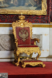 A close up of the throne