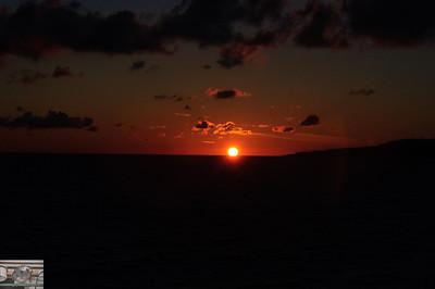 More setting sun