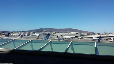 View from the United Lounge, international terminal, SFO