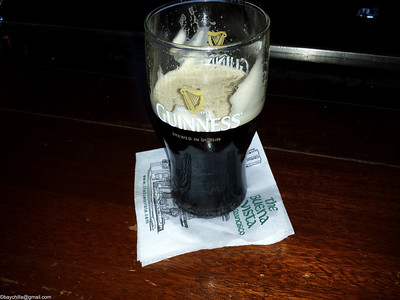 My Pint of Guinness in the Buena Vista cafe after the wee folk took their unfair share
