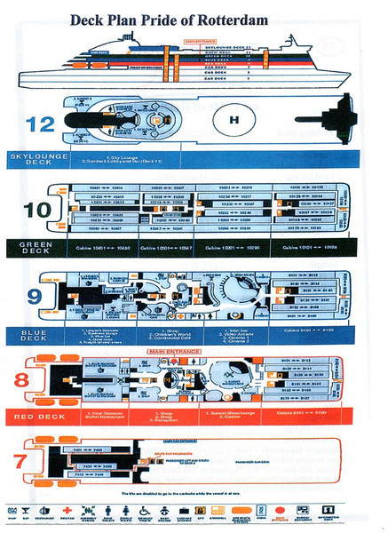 Deck Plan PRIDE OF ROTTERDAM