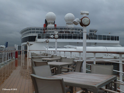 QUEEN VICTORIA, Grill Guest Deck Areas, Funnel - Oct 2012
