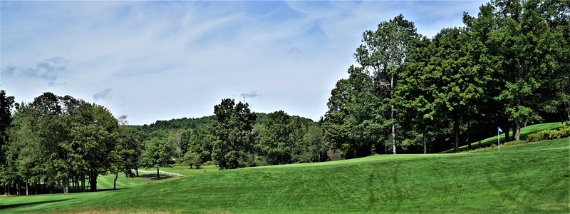 Hole #6 - green viewed from the 7th tee
