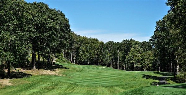 Hole #2 - an uphill par 4, viewed from the tee