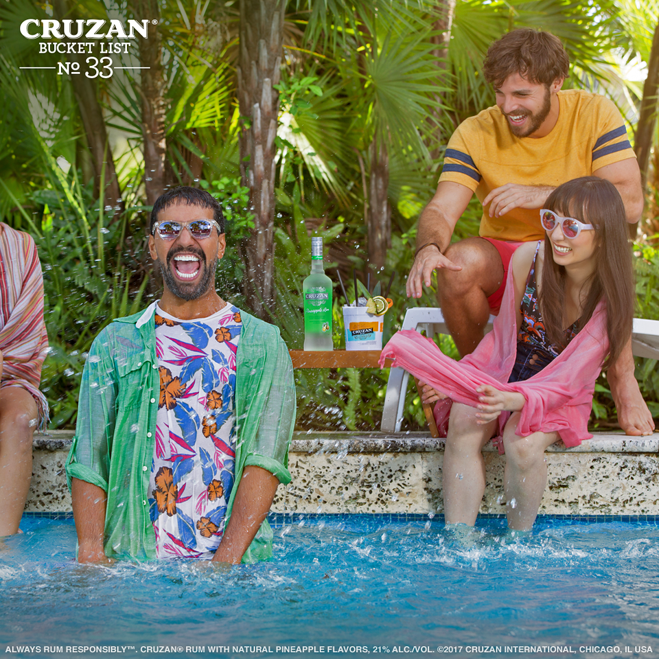 Bucket List No. 33: Start your summer with a splash ✔️ #CruzanBucketList